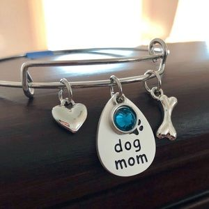 Dog Mom Bangle Bracelet